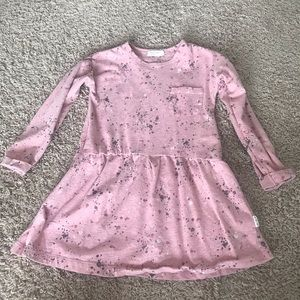 Miles Baby pink knit dress, size 4T